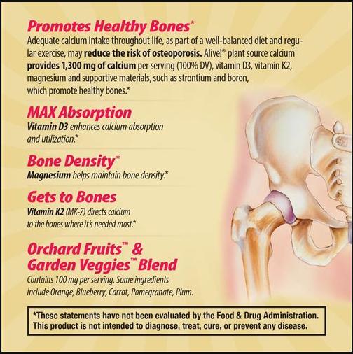 Nature's Way Bone Calcium 60tb