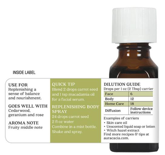 Aura Cacia Essential Oil, Carrot Seed 0.5oz
