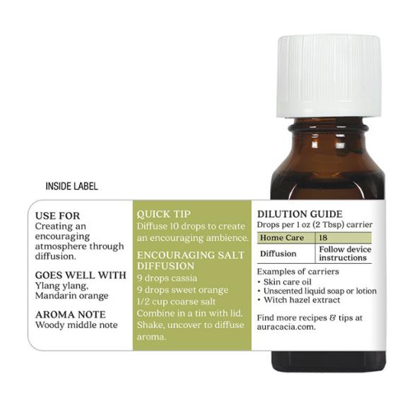 Aura Cacia Essential Oil, Cassia Bark 0.5oz