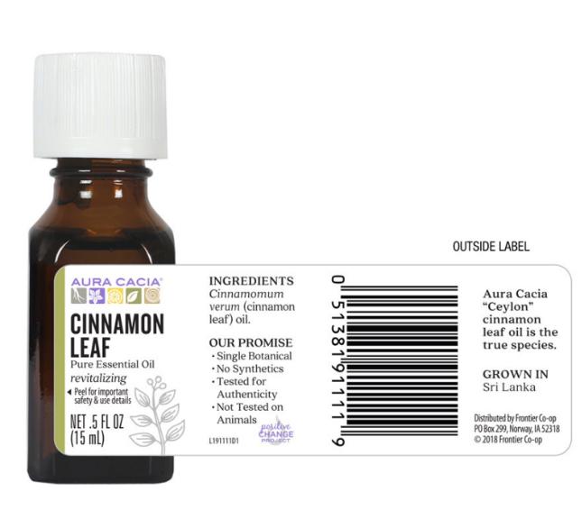 Aura Cacia Essential Oil, Cinnamon Leaf 0.5oz