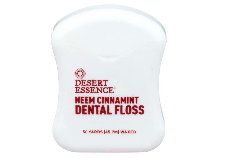 Desert Essence Neem Cinnamint Dental Floss Waxed 50 Yards