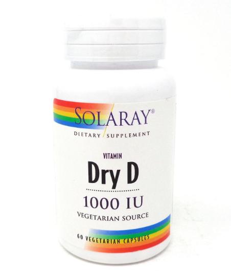 Solaray Dry Vitamin D 1000 IU 60 Capsules