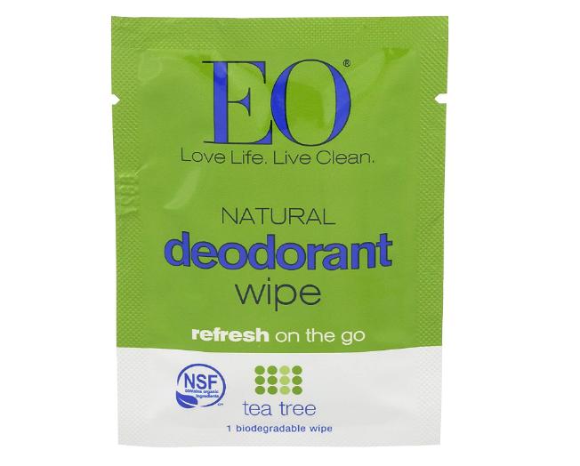 EO Deodorant Single Wipe Tea Tree