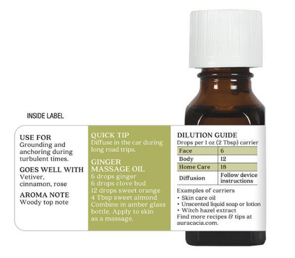 Aura Cacia Essential Oil, Ginger 0.5oz