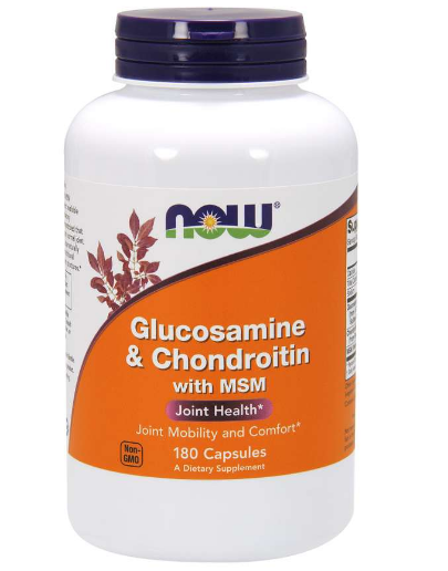 Now Glucosamine & Chondroitin with MSM 180 Capsules