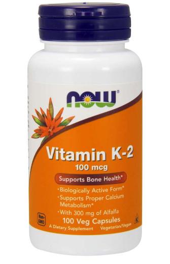 Now Vitamin K-2 100 Vcaps