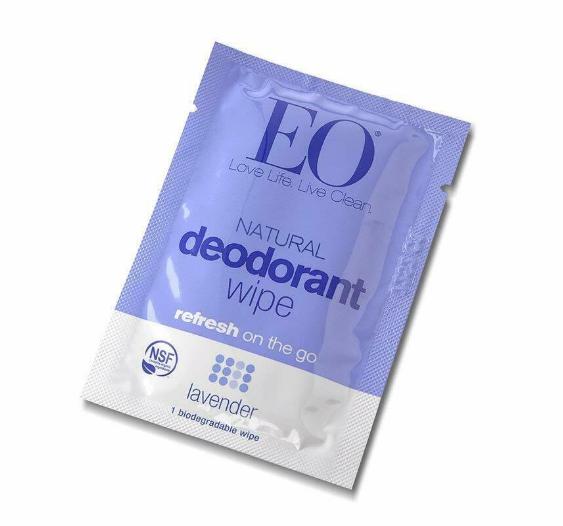 EO Deodorant Single Wipe Lavender