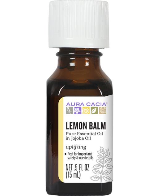 Aura Cacia Essential Oil, Lemon Balm 0.5oz