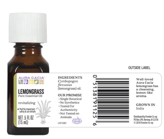 Aura Cacia Essential Oil, Lemongrass 0.5oz