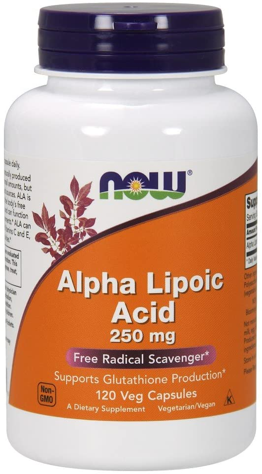 Now Alpha Lipoic Acid 250 mg 120 Veg Caps