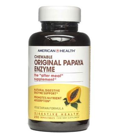 American Health Chewable Original Papaya Enzyme 250 Chewable Tablets