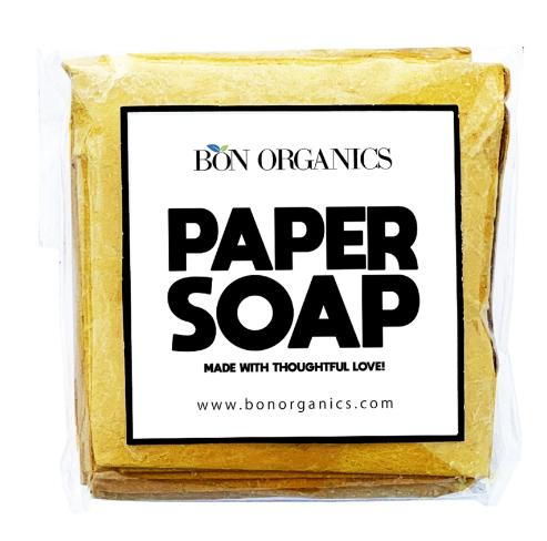 Bon Organics Handmade Paper Soap 30 Sheets