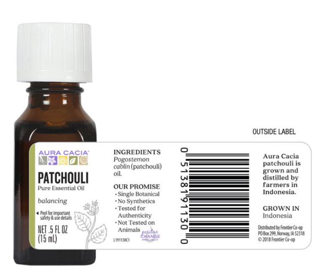 Aura Cacia Essential Oil, Patchouli 0.5oz