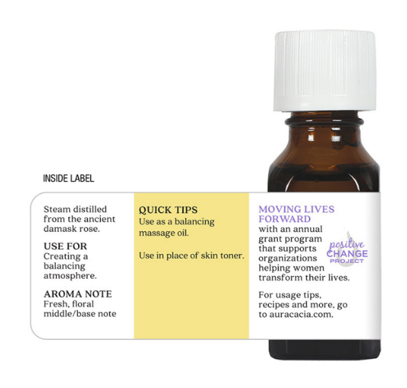 Aura Cacia Essential Oil, Rose Otto 0.5oz