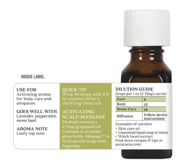 Aura Cacia Essential Oil, Rosemary 0.5oz