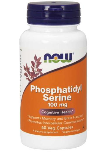 Now Phosphatidyl Serine 100 mg 60 Veg Caps