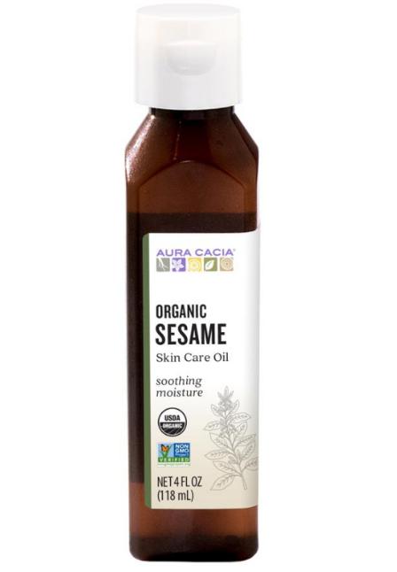 Aura Cacia Organic Skin Care Oil, Sesame 4oz