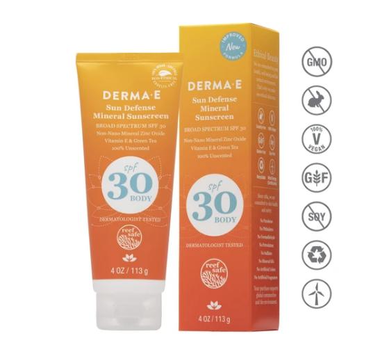 Dermae Natural Mineral Sunscreen Body SPF 30 4oz
