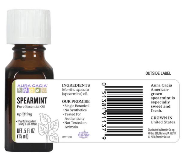 Aura Cacia Essential Oil, Spearmint 0.5oz