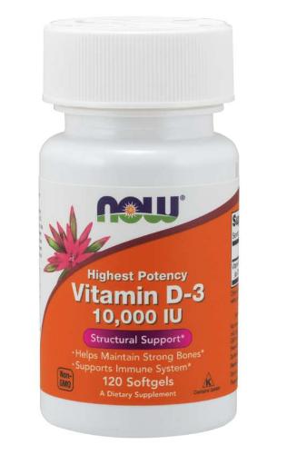 Now Vitamin D3 10,000iu 120 Softgels