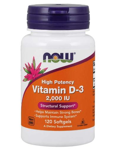 Now Vitamin D3 2,000IU 120 Softgels