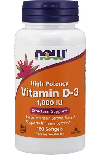 Now Vitamin D-3 1,000IU 180 Softgels