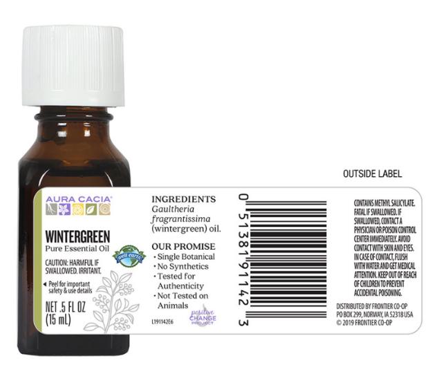 Aura Cacia Essential Oil, Wintergreen 0.5oz