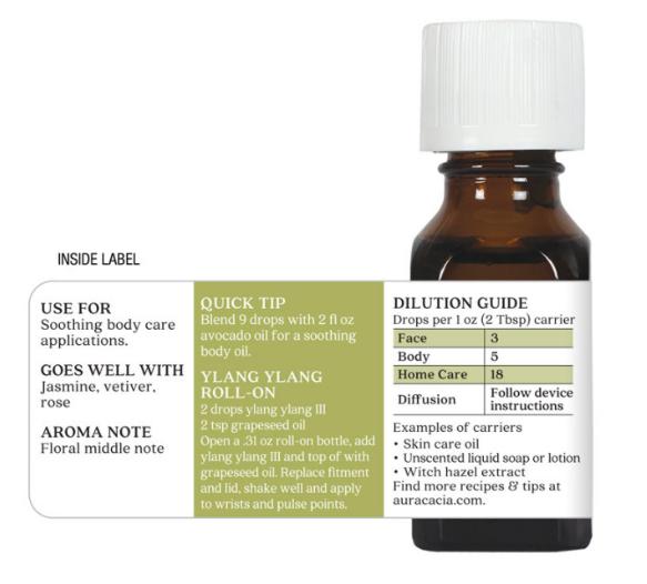 Aura Cacia Essential Oil, Ylang Ylang III 0.5oz